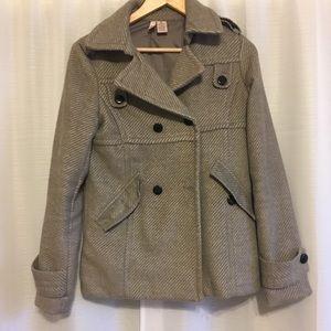 Stella Star Grey Pea Coat